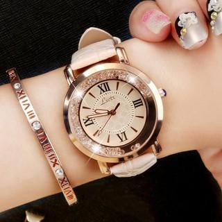 Đồng hồ mặt kim thiết kế thời trang thanh lịch dành cho nữ thumbnail