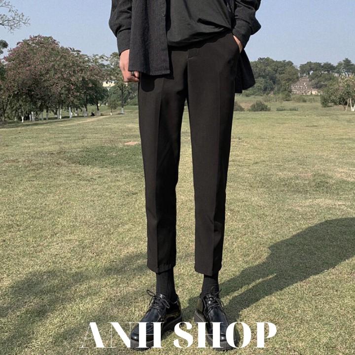 Quần baggy nam phong cách Hàn Quốc, ống suông mặc co giãn siêu dễ chịu