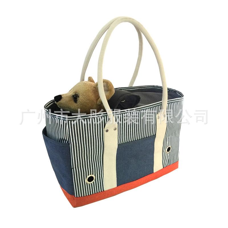 กระเป๋าเป้สะพายหลังผ้า oxford สําหรับใส่สัตว์เลี้ยงสุนัขเหมาะกับการพกพา