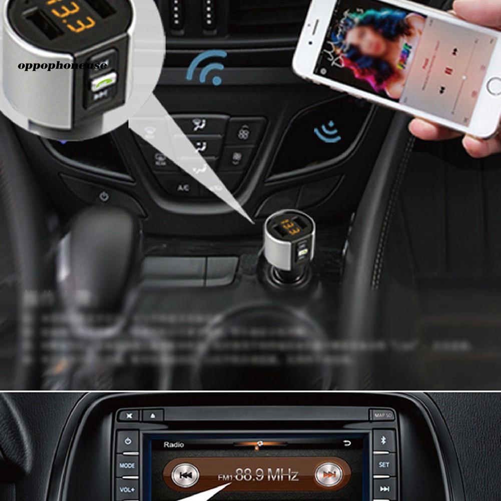 Bộ Sạc Usb Bluetooth Không Dây Cho Máy Nghe Nhạc Mp3 Trên Xe Hơi