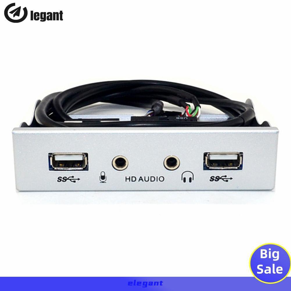 Bộ Chuyển Đổi Egx3.5 Inch 9pin Sang 2 Cổng Usb 2.0 Hub Bay Hd Audio 3.5mm
