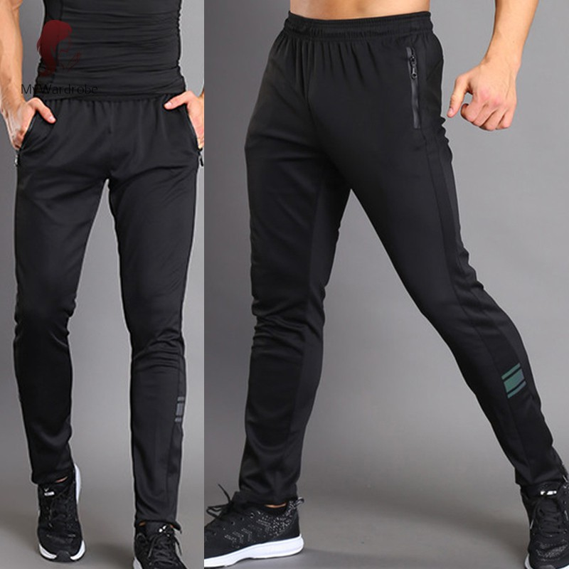 ETXK Men Sport Pants Trousers Breathable Casual for Running Training Fitness Summer