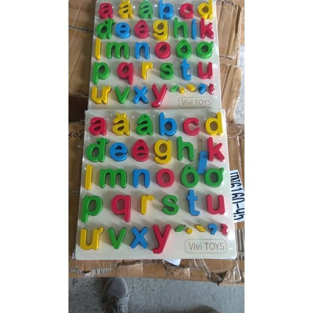 [Kid's Toy] Bảng chữ cái tiếng Việt nổi gỗ cao cấp cho bé [Giá lẻ rẻ như giá buôn]