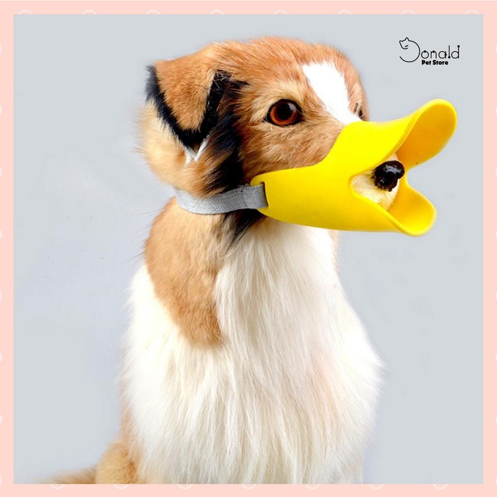 Rọ mõm hình thú mỏ vịt đáng yêu cho chó đủ 3 size - Donald Pet Store