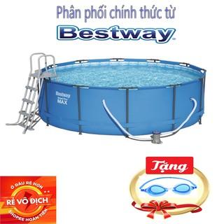 Bể Bơi Khung Kim Loại 3.66m x 1,22m, Thang,vãi,Bao bọc quanh bể,Bộ lọc bể- Bestway 56420 – Phân Phối Chính Hãng BESTWAY