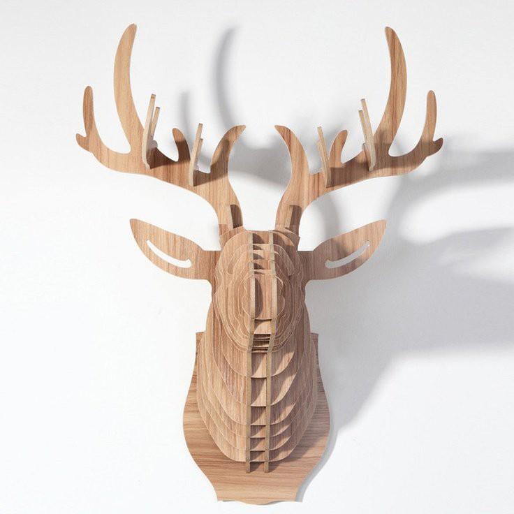 Đầu hươu gỗ lắp ghép độc đáo | Shopee Việt Nam