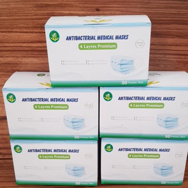Khẩu trang thiên thủy kháng khuẩn giấy ( 1 hộp 50 cái )
