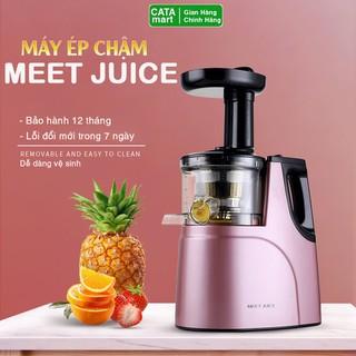 Máy ép chậm MEET JUICE, Máy ép trái cây- Vắt kiệt bã công suất 150W - Tặng 2 cốc đựng nước [ Bảo hành 12 tháng]