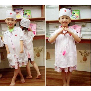 Bộ Áo + Mũ Bác Sĩ Cho bé. Size 3-7 tuổi