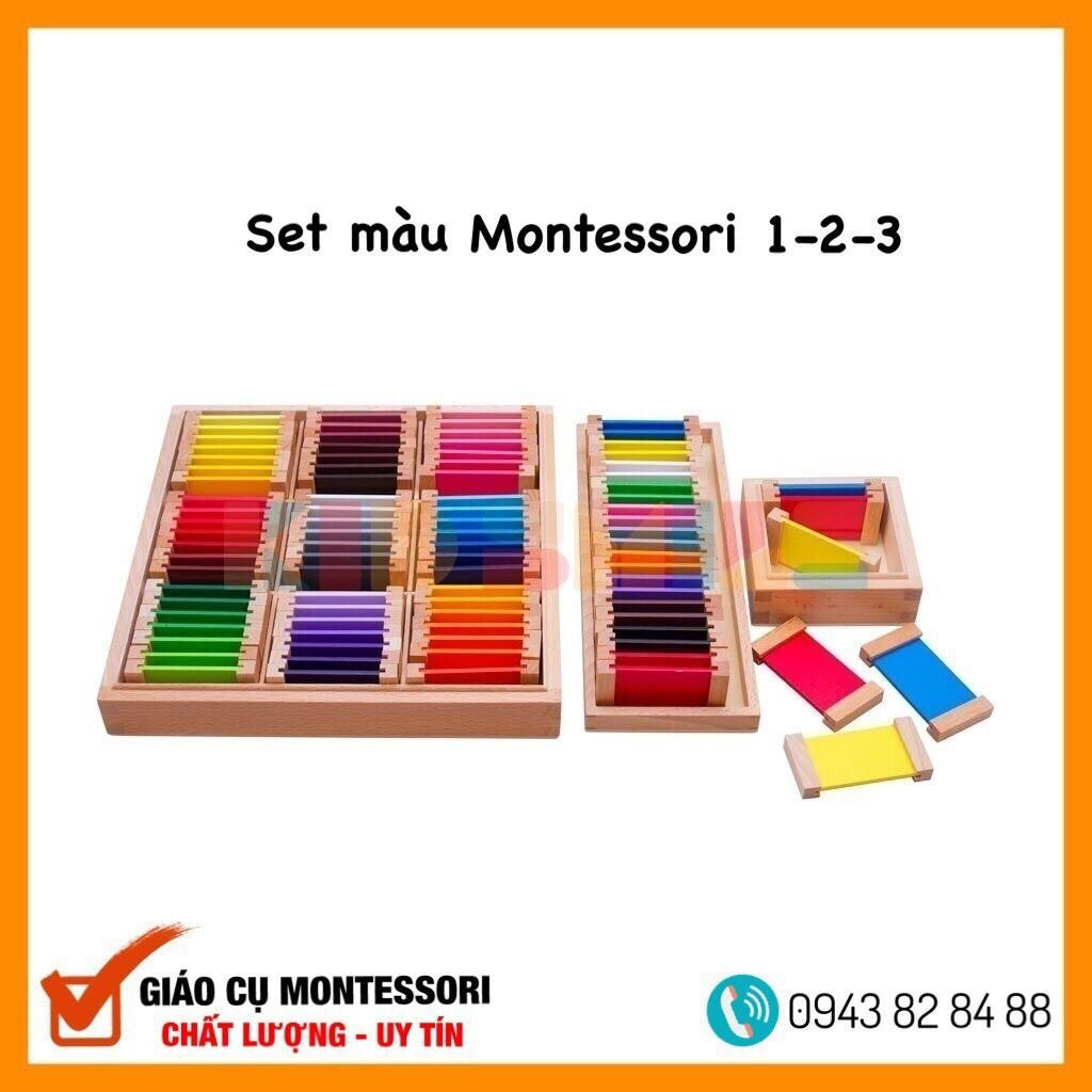 Đồ Chơi Gỗ Bảng Màu 1-2-3 Montessori (First, Second, Third Box Of Color)