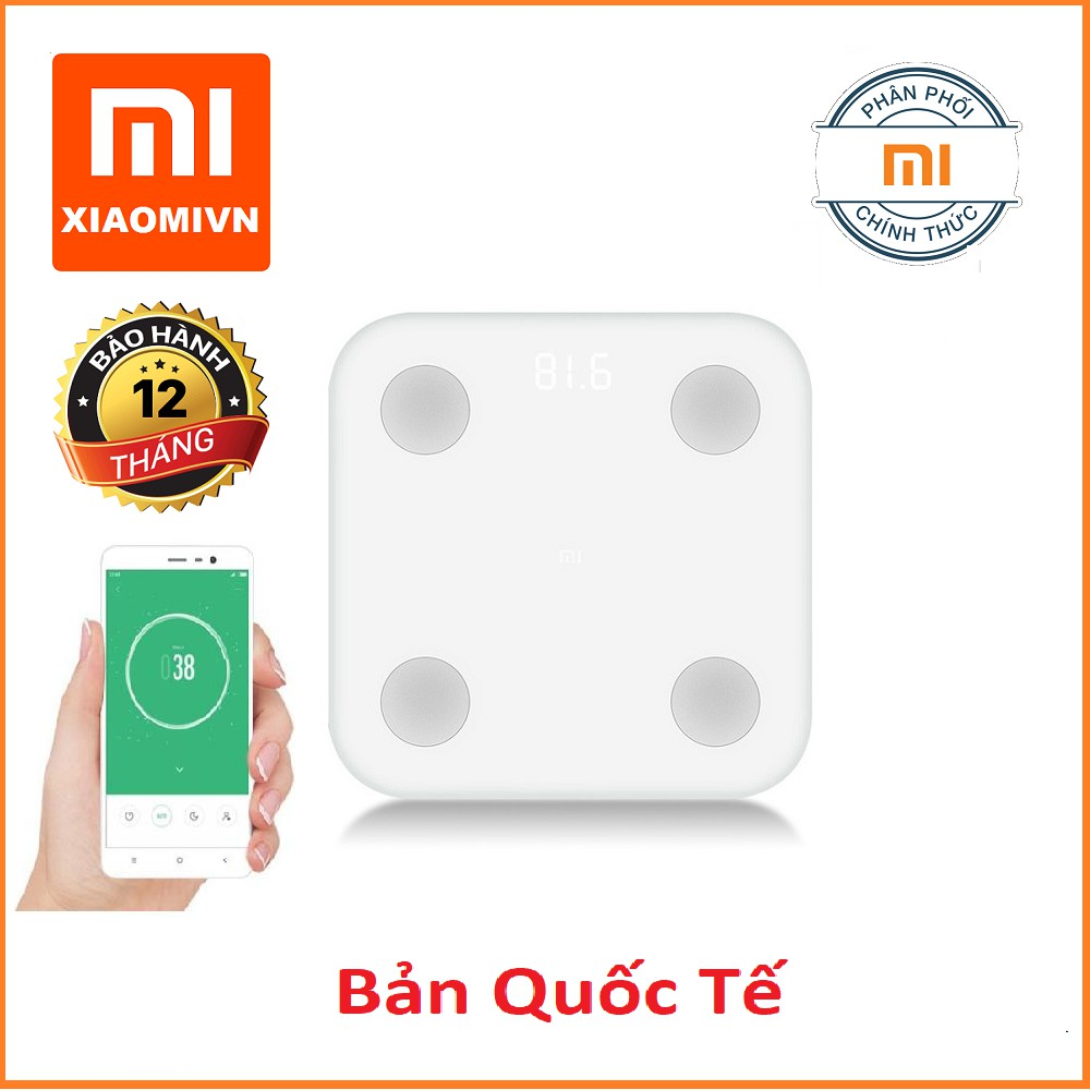 Cân Xiaomi gen 2 Mi Smart Scale 2 thông minh - Hãng phân phối