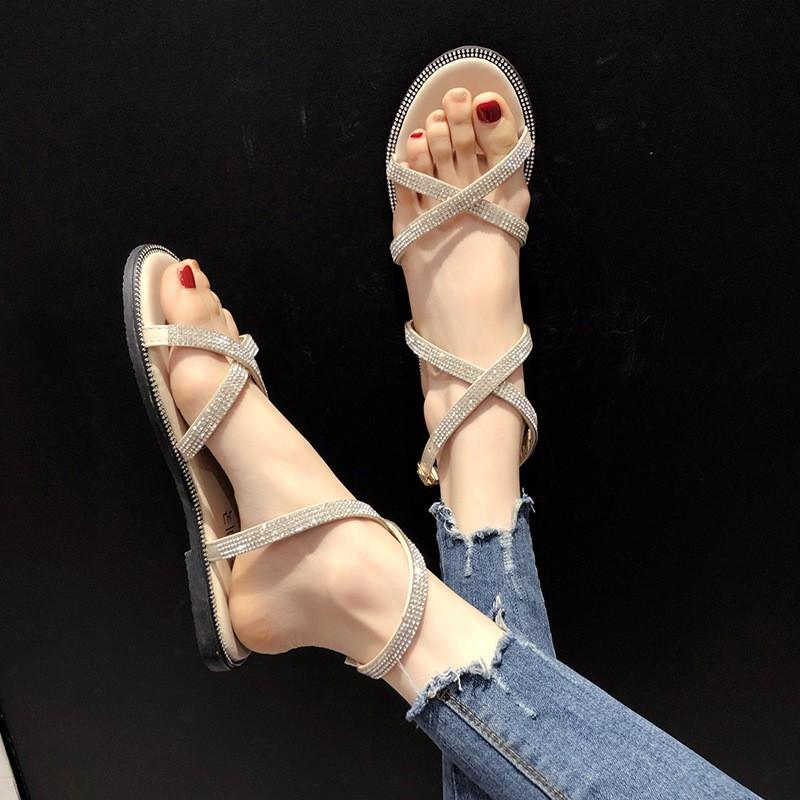 giày sandal nữ đính đá thời trang