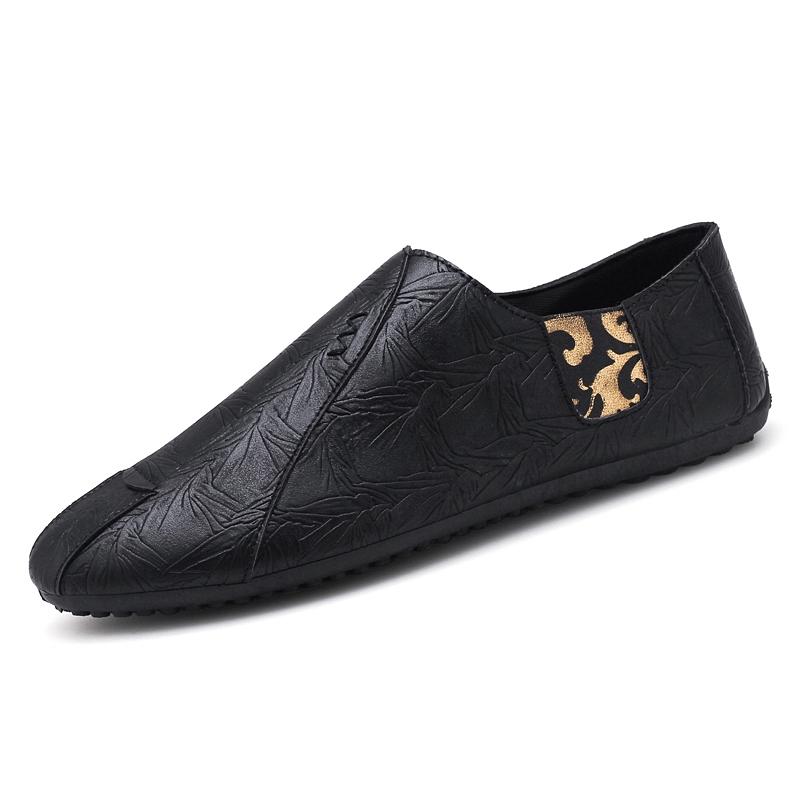 ผู้ชายในช่วงฤดูร้อนของอังกฤษรองเท้าลำลอง Peas ขี้เกียจรองเท้าหนังนิ่มขาแนวโน้มสังคมเกาหลีรองเท้าผู้ชายน้ำขึ้นน้ำลง
