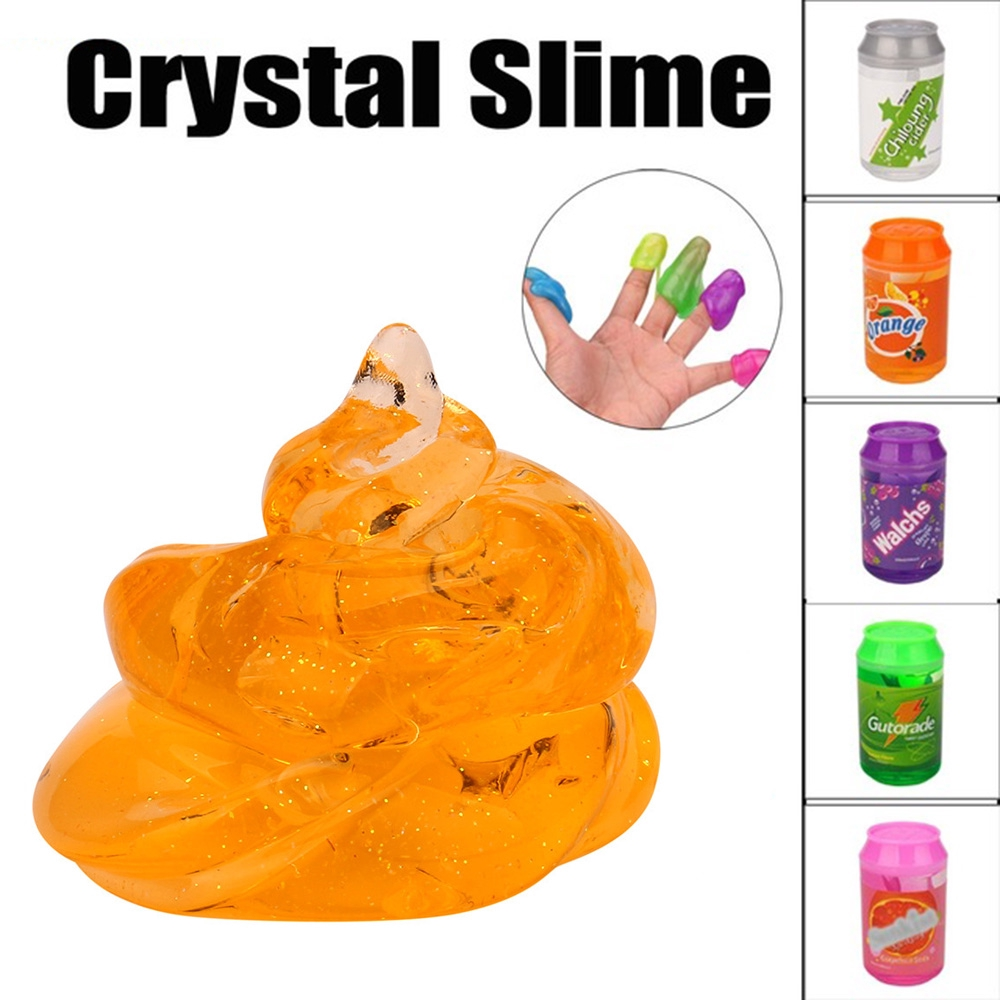 Clay Children gift Stress Relief Foam Ball Plasticine Clear Slime Toys