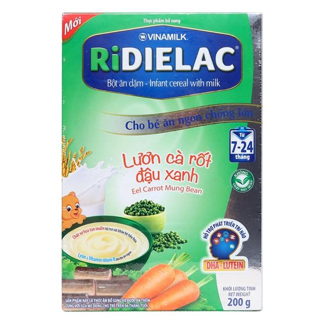 Bột ăn dặm RiDielac lươn, cà rốt, đậu xanh