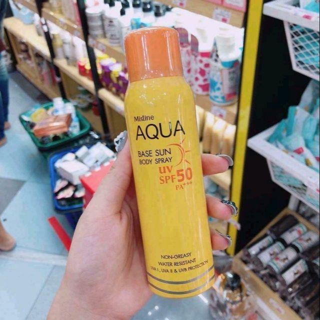 Xịt chống nắng Aqua Thái lan spf 50