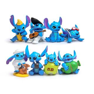 #ReadyStock# 8Pcs/set Stitch Bib Stitch Doll Gift For Kid Toys