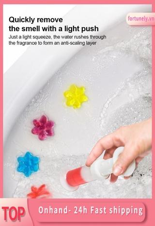 gel khử mùi nhà vệ sinh Toilet Toilet Cleaner Hàn Quốc không mùi Màu trắng sáng mạnh Gel tẩy rửa thơm nhà vệ sinh fortunely.vn