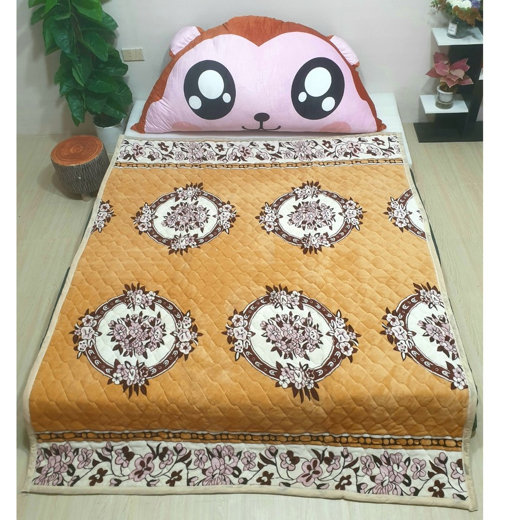 Thảm nhung họa tiết đa năng trải giường trải sàn ( hàng dày dặn nặng 2,5kg )