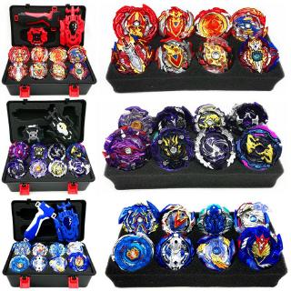 8pcs/All set Gyro Burst Beyblade With Launcher Portable Storage Box Kids Gift Toy