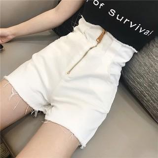 (hàng sẵn) quần short khóa kéo eo cao
