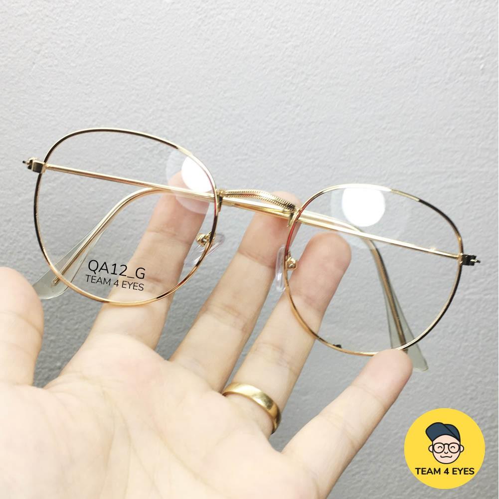 Hình ảnh [ Ảnh thật ] Gọng kính cận tròn hợp kim mỏng nhẹ-1