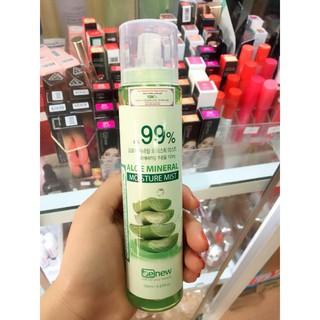 [Hàng chính hãng Hàn Quốc] Nước xịt khoáng dưỡng và làm mềm da Aloe Mineral Moisture Mist Hàn Quốc 150ml thumbnail