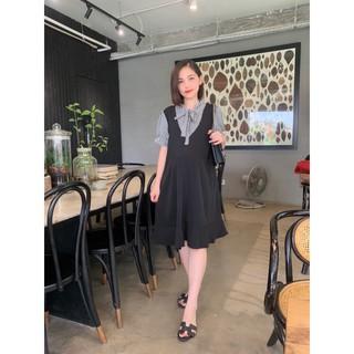 Váy bầu công sở hàng thiết kế chất lụa Hàn Châu cao cấp VB2