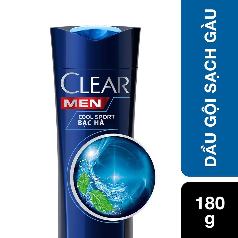 Dầu gội sạch gàu dành cho nam CLEAR Men Cool Sport Bạc Hà 180g ( MSP 67426100)
