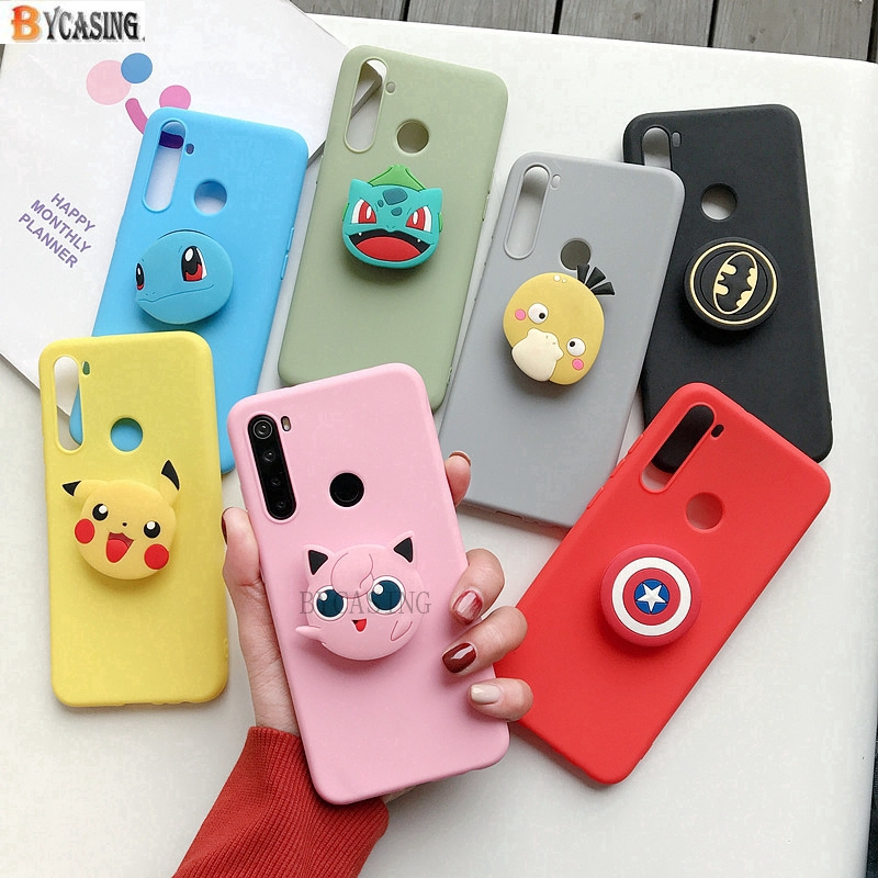 [Mã ELCB07 hoàn 15% xu đơn 99k] Ốp điện thoại silicone với giá đỡ Pokemon 3D đáng yêu cho iPhone 5S SE iPhone 6S 6 Plus 7 Plus 8 Plus