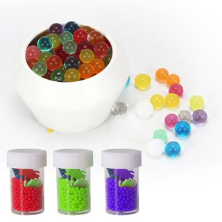 12 Bottles Absorbent Beads Kids Toys Crystal Mud Magic Balls JP0602