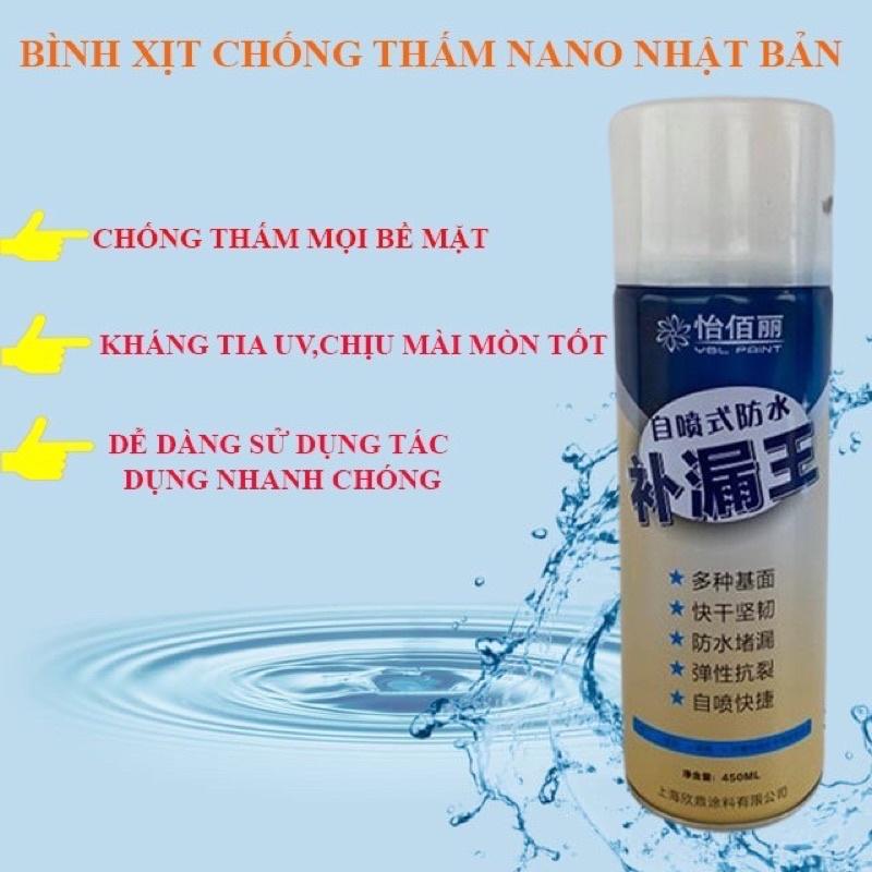 Sơn xịt NANO chống thấm Nước thế hệ mới, sơn chống thấm dạng xịt tiện dụng