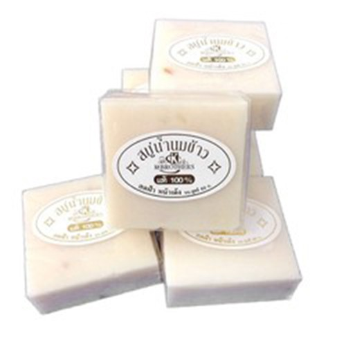 Lốc Xà Bông cám gạo thái lan Jam Rice Milk Soap x1 lốc (12 cục)