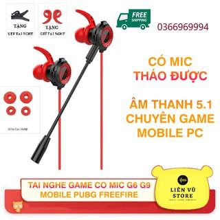 Tai nghe game thủ chính hãng G6 G9 có Mic chuyên Game Mobile, PC PUBG ROS FreeFire LIÊN QUÂN TỐC CHIẾN