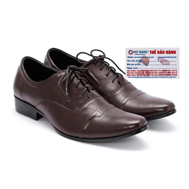 Giày tây nam Huy Hoàng màu nâu-A