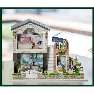 Mô hình biệt thự Ailen- DIY (tặng kèm mica, keo)
