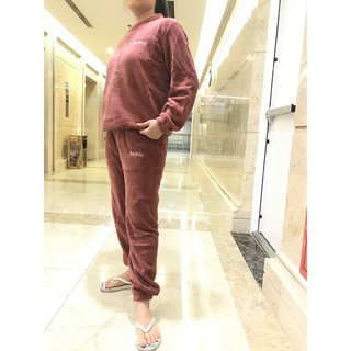 Bộ nỉ bông nữ mặc nhà, bộ nỉ bông quảng châu mặc nhà siêu ấm xuất Hàn đẹp BN1