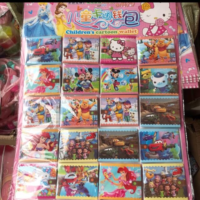 20 chiếc ví giấy trẻ em nhiều mẫu khác nhau