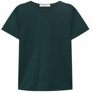 Áo thun cổ tròn, 100% cotton cao cấp, màu đen – 014