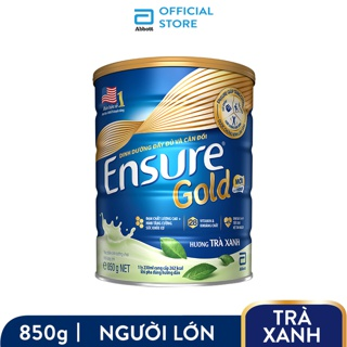 Hình ảnh Sữa bột Ensure Gold Trà xanh 850g tặng Bình thủy tinh-3