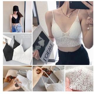 Áo ngực bra cotton ren hoa hở lưng AL140- Ha Song Shop thumbnail