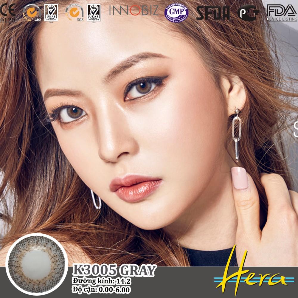 Kính áp tròng Hàn Quốc Hera K3005 GRAY - Lens Hàn Quốc xám ghi
