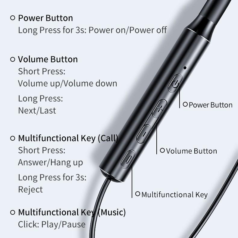 Tai nghe bluetooth không dây thể thao Rockspace B5 dành cho chạy bộ, tập GYM, thiết kế nhét tai, có micro, Pin 10 tiếng