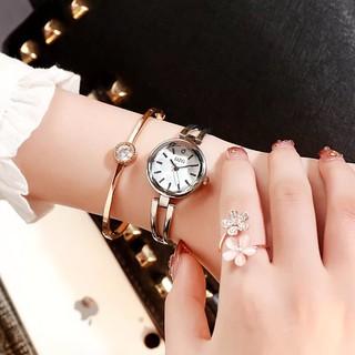 Đồng hồ thời trang nữ DZG dây kim loại kính 3D cực đẹp MSw479