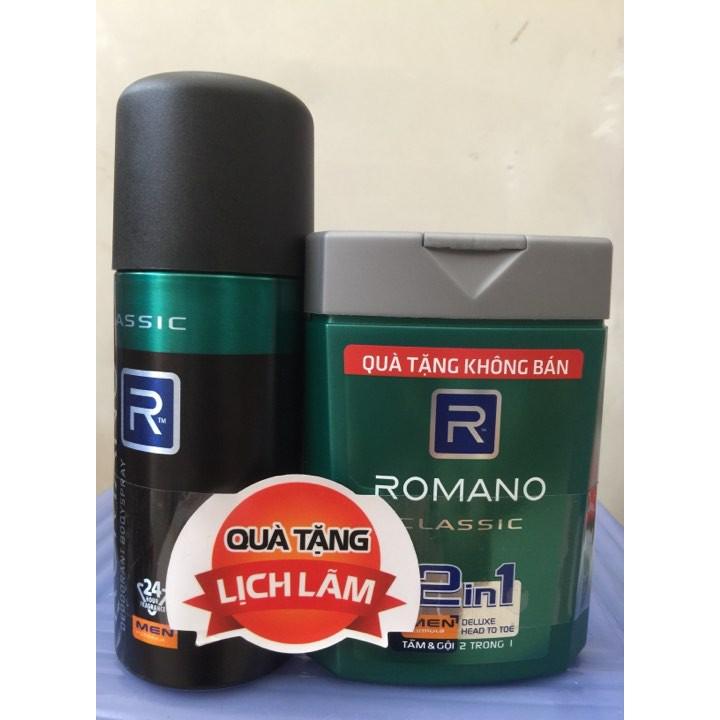 Xịt khử mùi toàn thân Romano Classic