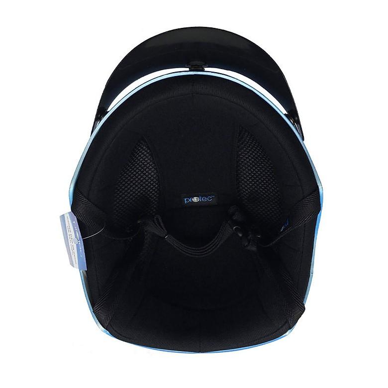 Mũ Bảo Hiểm Nửa Đầu Thời Trang Protec VIC Phối Hai Màu, An Toàn, Nhẹ Nhàng, Chắc Chắn