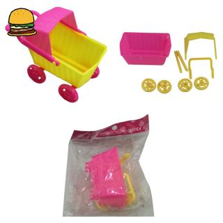 Dollhouse Mini Trolley Simulation Shopping Cart for Dolls Children Baby Doll Accessories