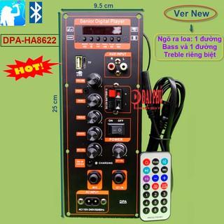 Mạch loa kéo công suất 40W - 80W HA8622 DPA nguồn xung 220V Bluetooth Karaoke Loa kéo 2.5 tấc - 3 tấc