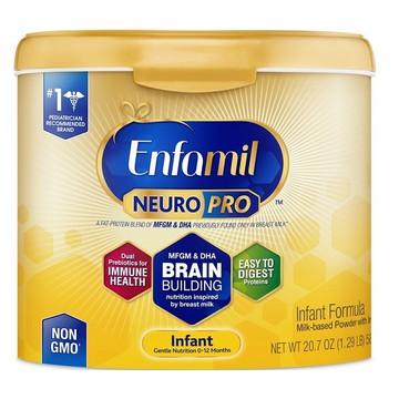 Sữa bột Enfamil Neuro Pro NON-GMO Infant Formula 581g của Mỹ ̣̣̣-Hàng bể nắp