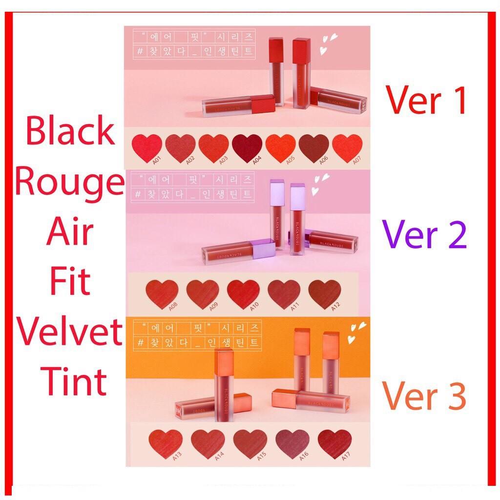 [Mã COSFS1 giảm 10% đơn 150K] Son Kem Lì Black Rouge Air Fit Velvet Tint